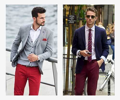 شلوار کتان قرمز
