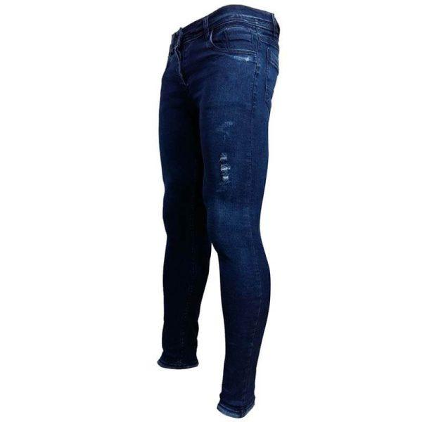 شلوار جین جذب مردان زاپ دار(آبی تیره)