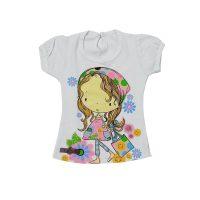 تیشرت شرت دخترانه طرح دخترک1
