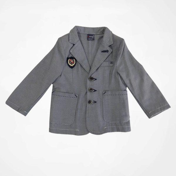 ست کت شلوار و پیراهن پسرانه طوسی MIXBABY5