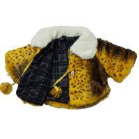 شنل دخترانه پشمی رنگ زرد1