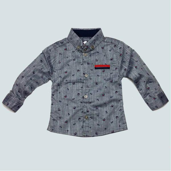 پیراهن پسرانه پیشتاز کشتی خاکستری