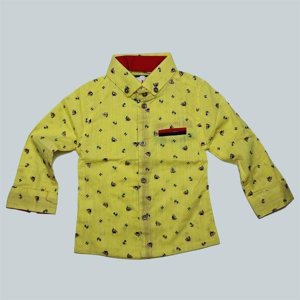 پیراهن پسرانه پیشتاز کشتی زرد