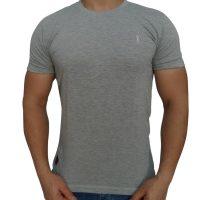 تی شرت مردانه ساده خاکستری روشن ابرکرومبی