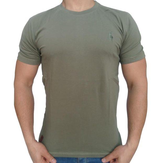 تی شرت مردانه ساده سبز ابرکرومبی