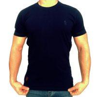تی شرت مردانه ساده سرمه ای ابرکرومبی