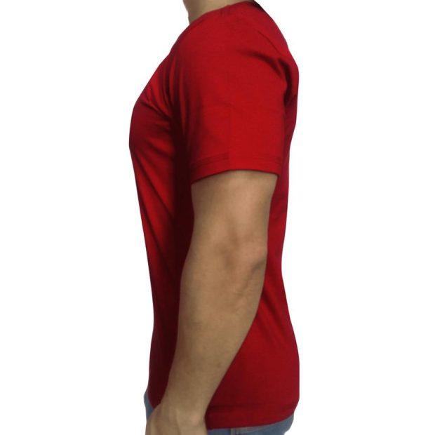 تی شرت مردانه ساده قرمز ابرکرومبی1