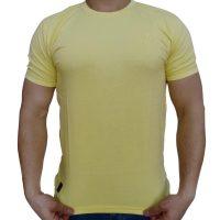 تی شرت مردانه ساده لیمویی ابرکرومبی