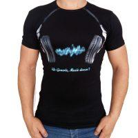 تی شرت مردانه هدفون موزیک