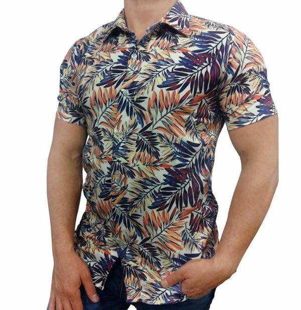 پیراهن طرحدار مردانه - پیراهن هاوایی