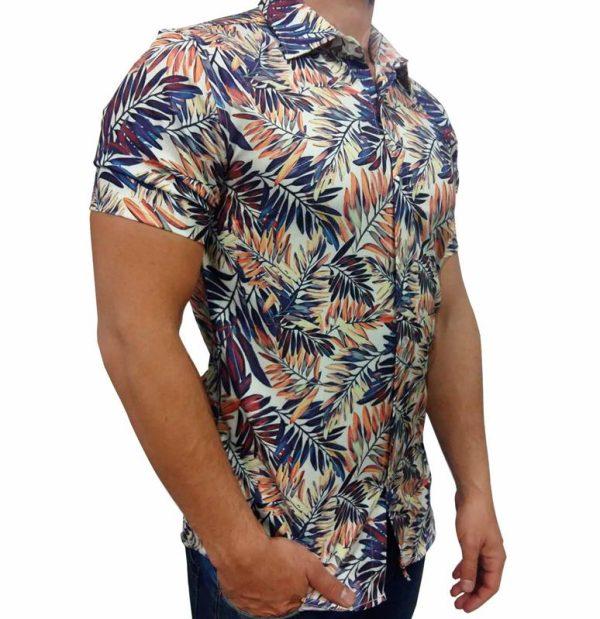 پیراهن طرحدار مردانه - پیراهن هاوایی1