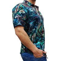 پیراهن هاوایی مردانه طرح آبرنگی1