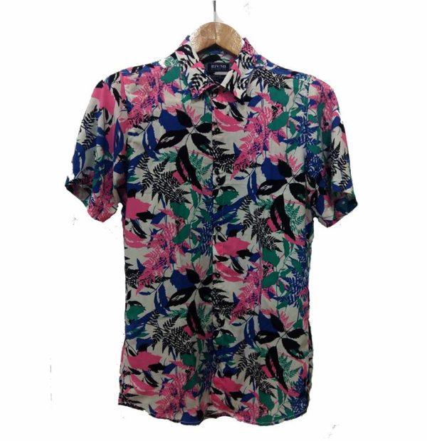 پیراهن گلدار مردانه - پیراهن هاوایی2