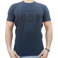 تی شرت مردانه خاکستری LALEX ICON