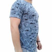 تی شرت مردانه زاپ دار خاکستری 1