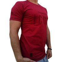 تی شرت مردانه زرشکی LALEX ICON1