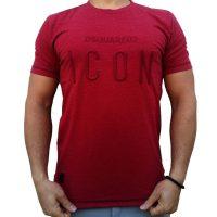 تی شرت مردانه زرشکیLALEX ICON
