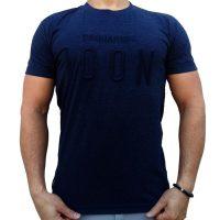 تی شرت مردانه سرمه ای LALEX ICON