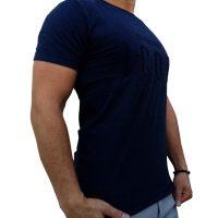 تی شرت مردانه سرمه ای LALEX ICON1