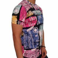 تی شرت مردانه هاوایی PRD صورتی 1
