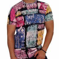 تی شرت مردانه هاوایی PRD صورتی