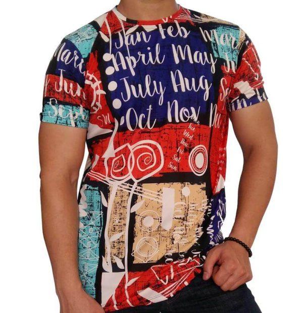 تی شرت مردانه هاوایی PRD قرمز