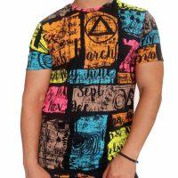 تی شرت مردانه هاوایی PRD نارنجی