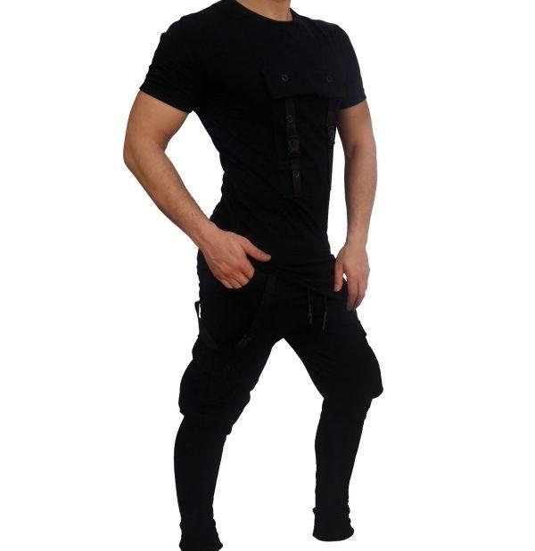 ست تی شرت شلوار مردانه RAKIPSIZ شش جیب 1