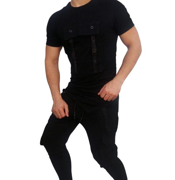 ست تی شرت شلوار مردانه RAKIPSIZ شش جیب 2