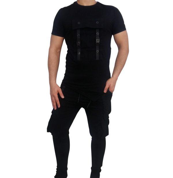 ست تی شرت شلوار مردانه RAKIPSIZ شش جیب