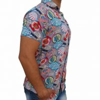 پیراهن هاوایی مردانه طرح لوگو