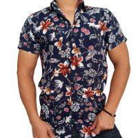 پیراهن هاوایی گلدار مردانه