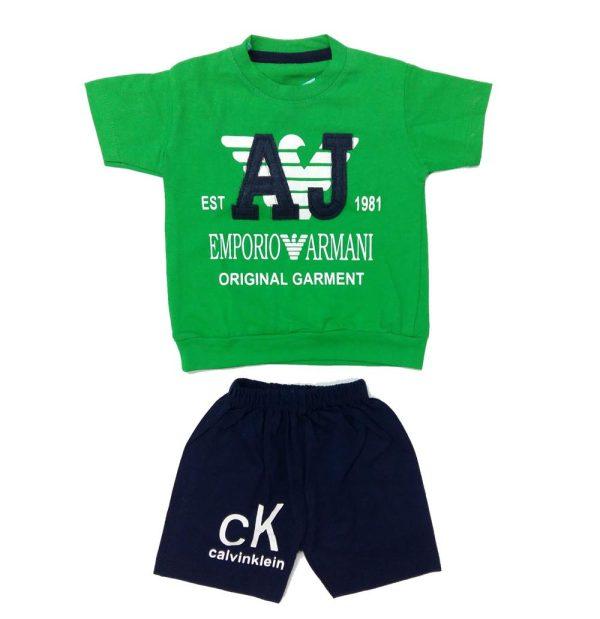 تیشرت و شلوارک پسرانه AJ سبز