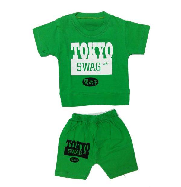 تیشرت و شلوارک پسرانه TOKYO سبز
