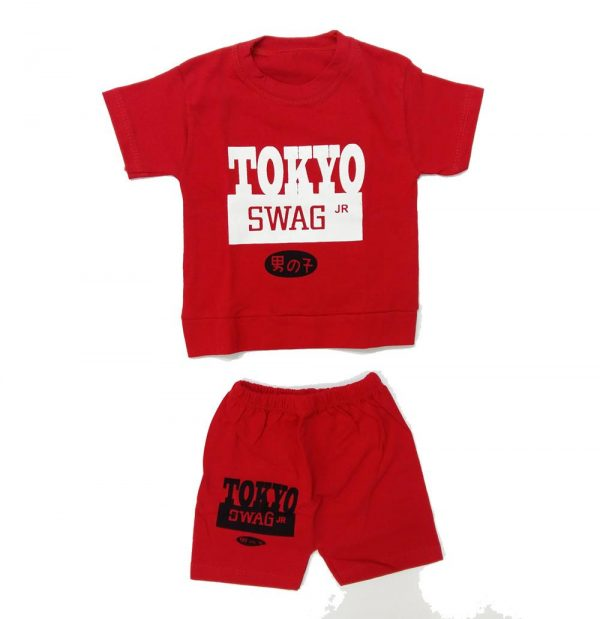 تیشرت و شلوارک پسرانه TOKYO قرمز