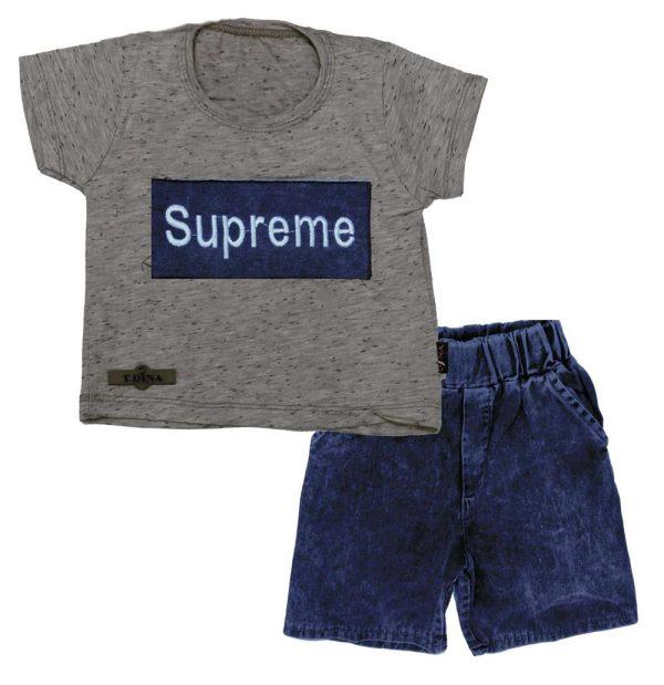 تی شرت شلوارک پسرانه سوپرمی آبی