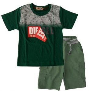 تی شرت و شلوارک پسرانه دیزل سبز بادی