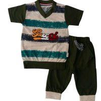 تی شرت و شلوارک پسرانه راه راه رضوان یشمی