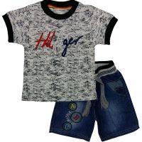 تی شرت و شلوارک پسرانه هیلفیگر مشکی ماتریکس