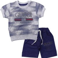 تی شرت و شلوارک پسرانه گوچی ویداس آبی