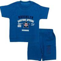 تی شرت و شلوارک پسرانه 66 آبی پریا