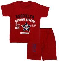 تی شرت و شلوارک پسرانه 66 قرمز پریا