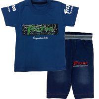تی شرت و شلوارک پسرانه FRATON آبی نیکخواه