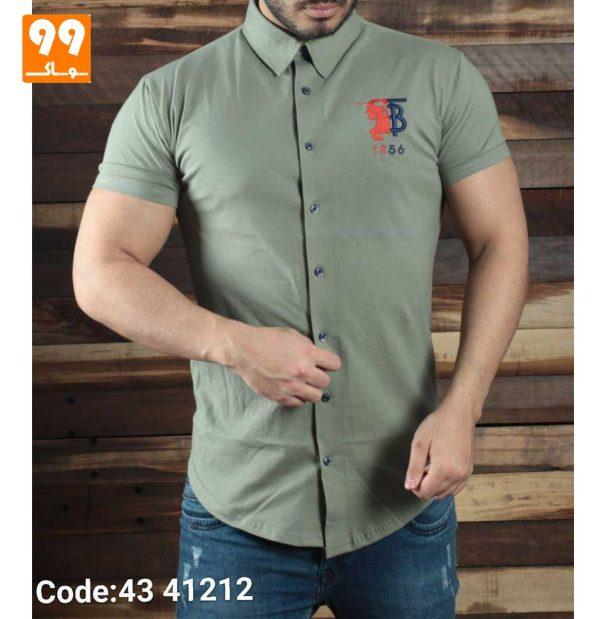 تی شرت پیراهن مردانه سبز
