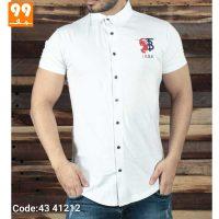 تی شرت پیراهن مردانه سفید