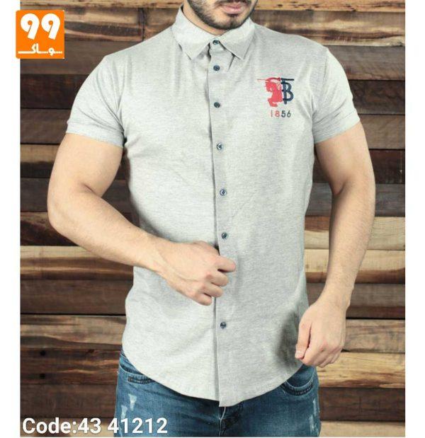 تی شرت پیراهن مردانه طوسی