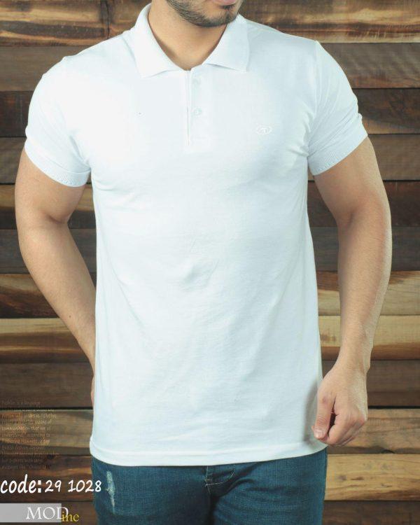 تی شرت یقه دار جودون تام تیلور سفید