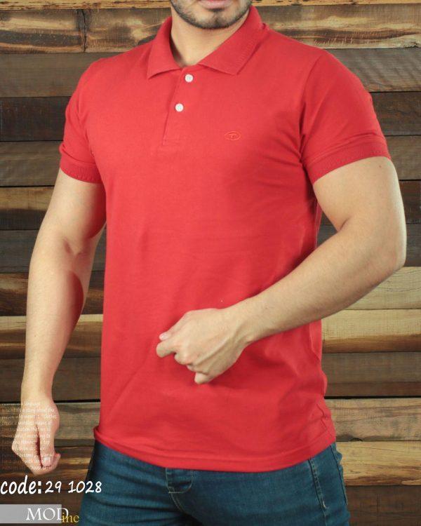 تی شرت یقه دار جودون تام تیلور قرمز