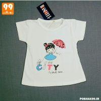 تی شرت دخترونه سفید CITY