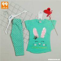 تی شرت ساپورت دخترانه تاپ لند خرگوش سبز
